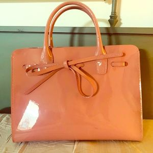 Mansur Gavriel Pink Patent Leather Bag w/Crossbody
